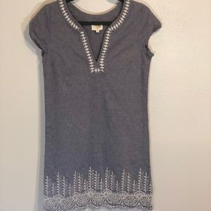 Mud Pie embroidered shift tunic dress size S